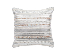 Hanging Gardens Metallic Rope & Beaded Pillow