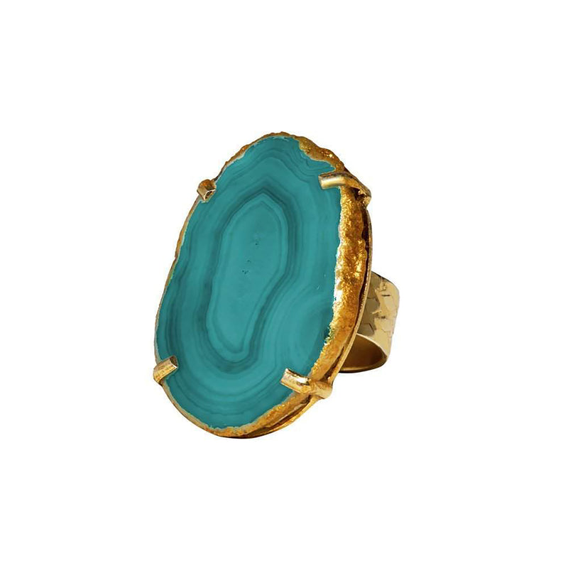 Reef Runner Ring in Green