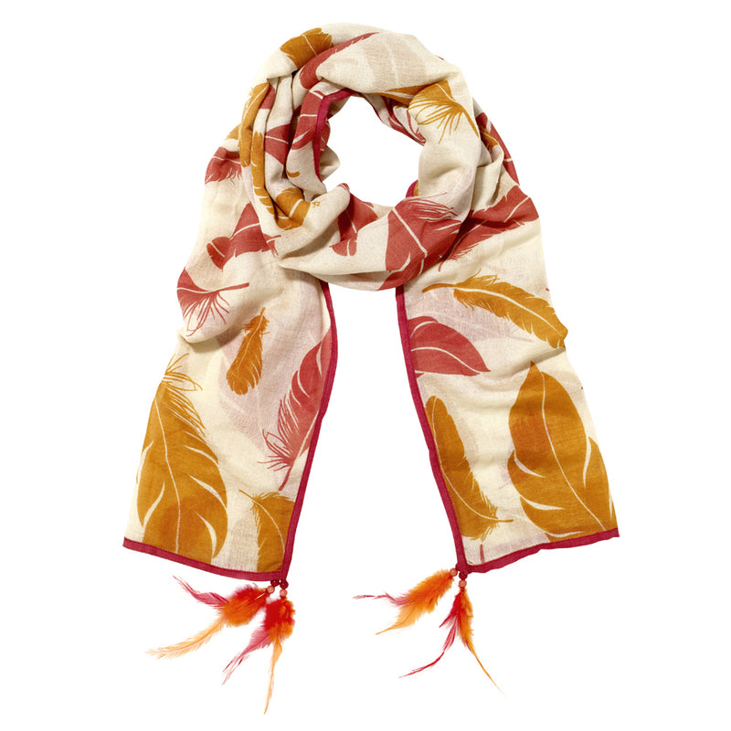 Flight Silk Feather Scarves