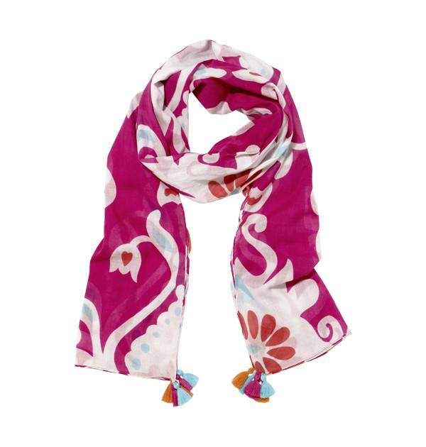 Irate Damask Scarf in Pink