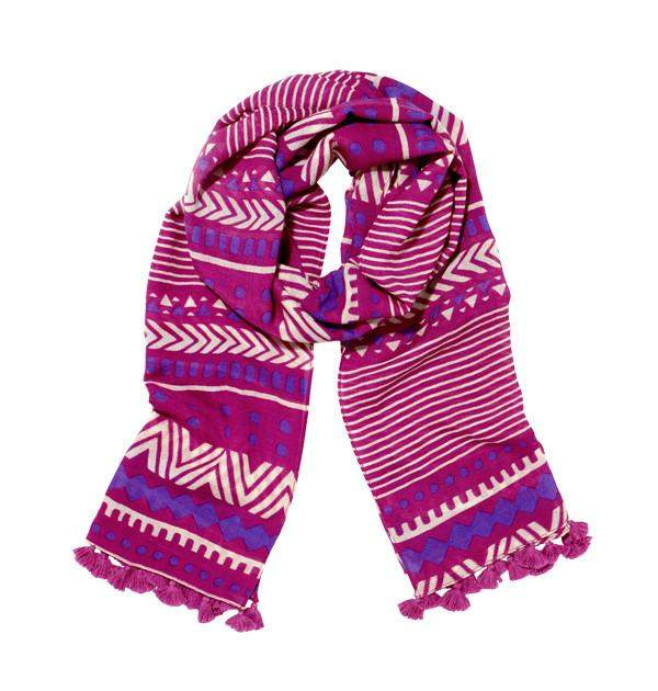 Orissa Scarf in Pink, Purple & White