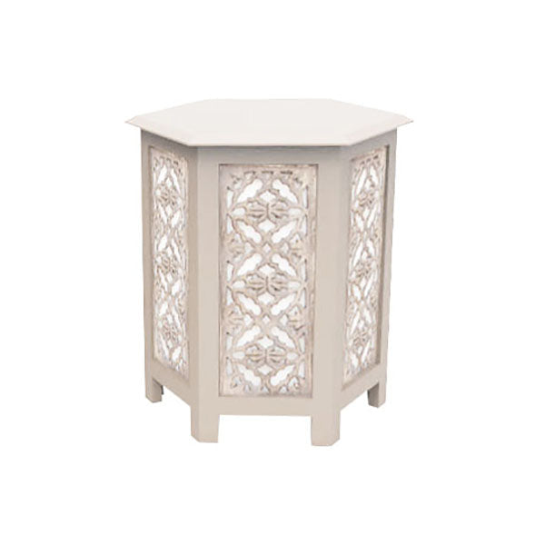 Laceleaf Nesting Table Large in Whitewash