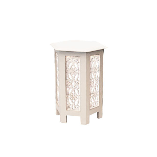 Laceleaf Nesting Table Small in Whitewash