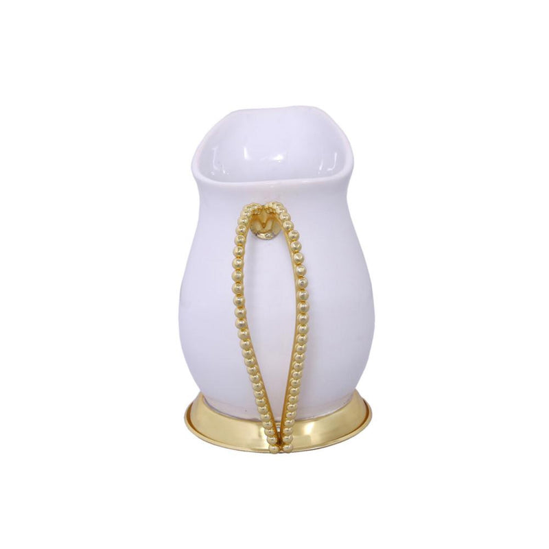 Raj Palace Pitcher in White & Gold