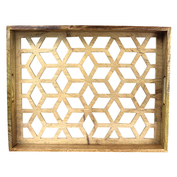 Star Lattice Cut-Base Tray Medium in Natural