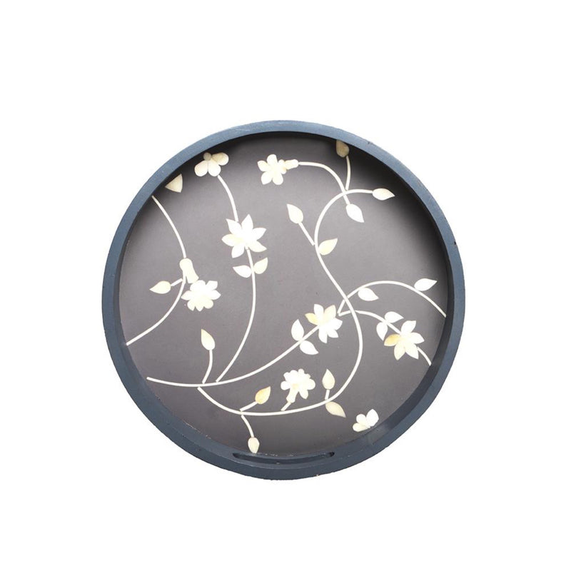 Heritage Refined ARABESQUE Round Tray 12""