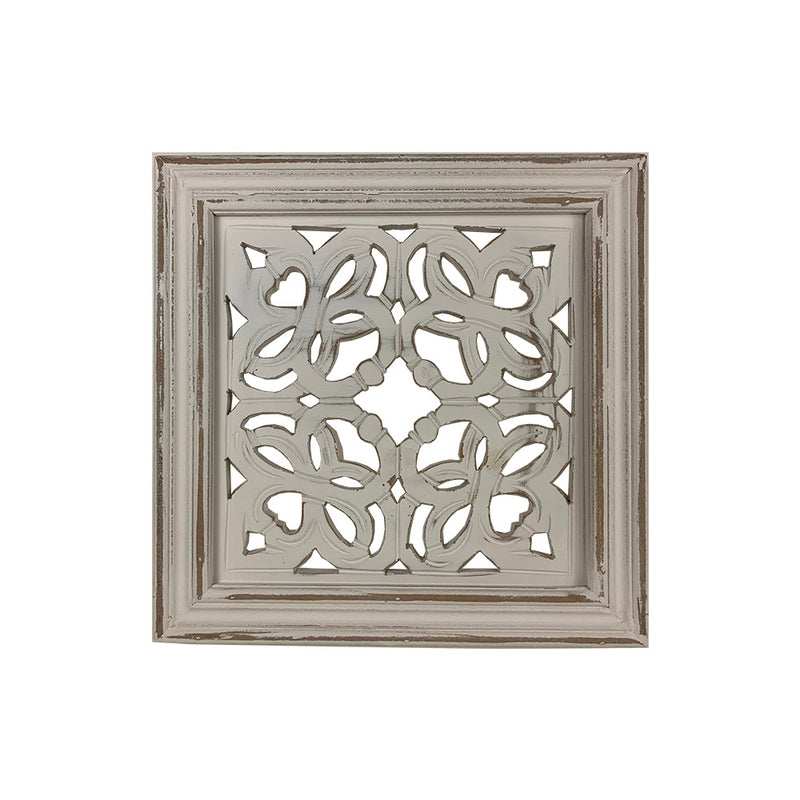 Ajanta in Shabby White Wall Panel Set of 2