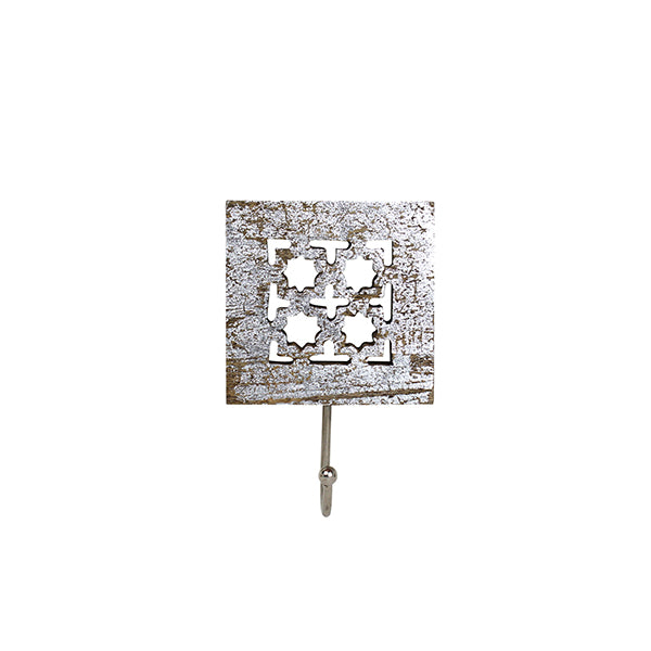 Trellis Single Hook in Distressed Silver