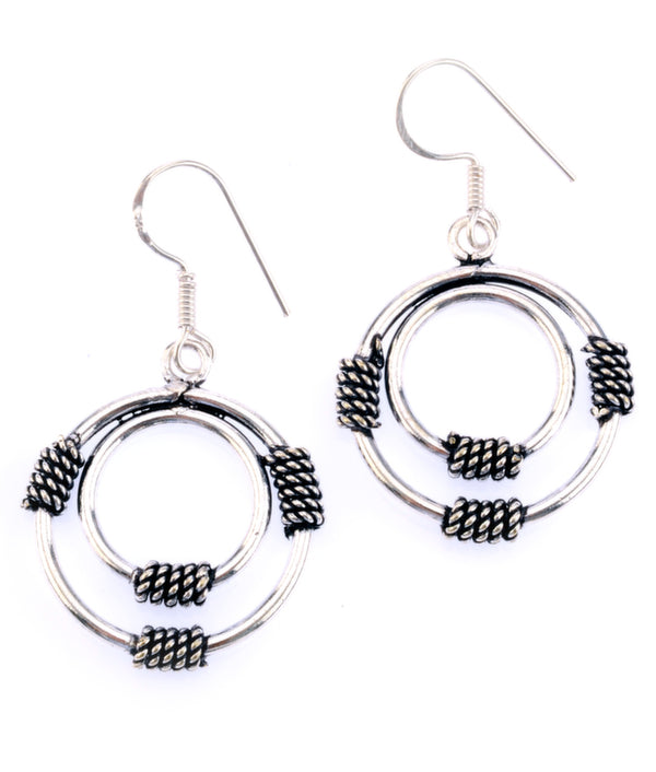 Silver Coil Earrings in Sterling Silver