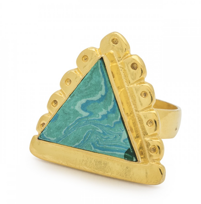 Cleopatra Ring in Green