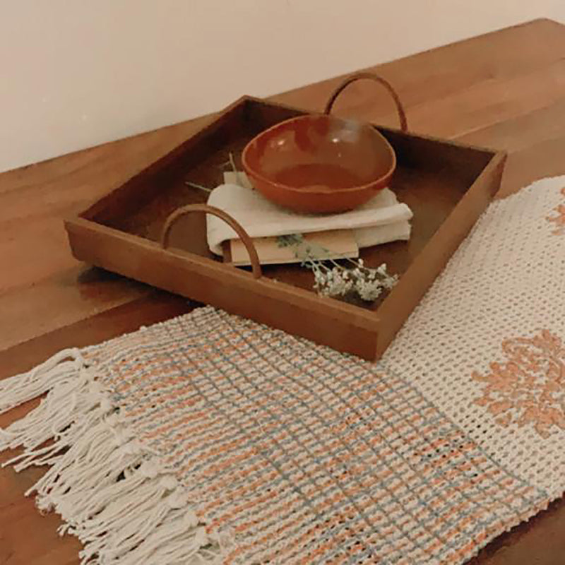 Native Narrative Knotted Throw