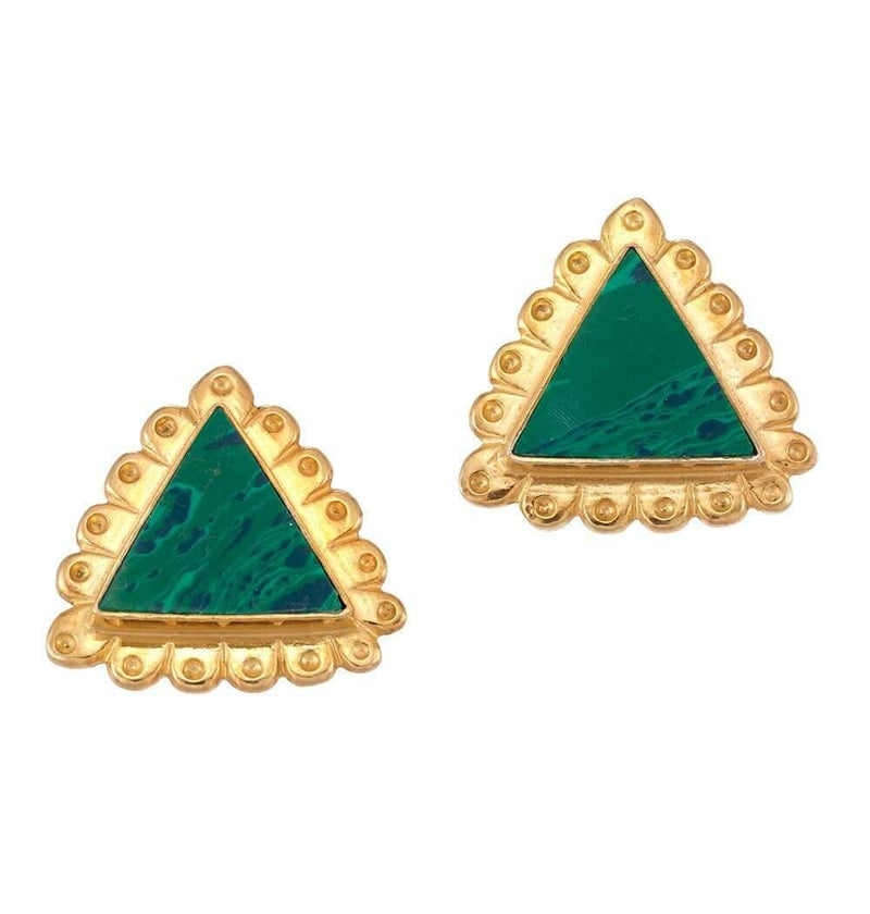 Cleopatra Stud Earrings in Green