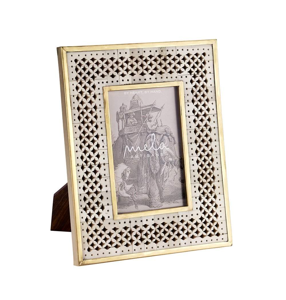 Chantilly Frame 4x6 in Natural Bone