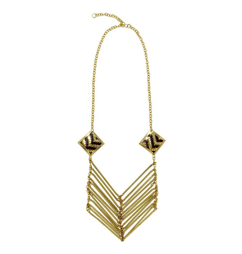 Lolita Necklace in Black & Gold
