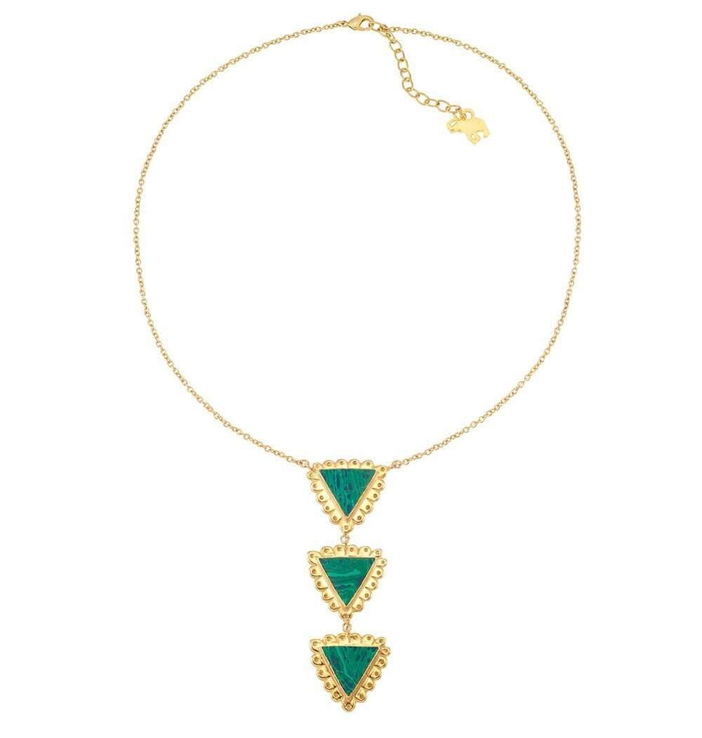 Cleopatra Drop Necklace in Green
