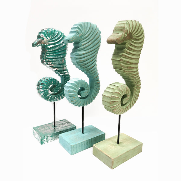 Seahorse Decorative Wood Stand