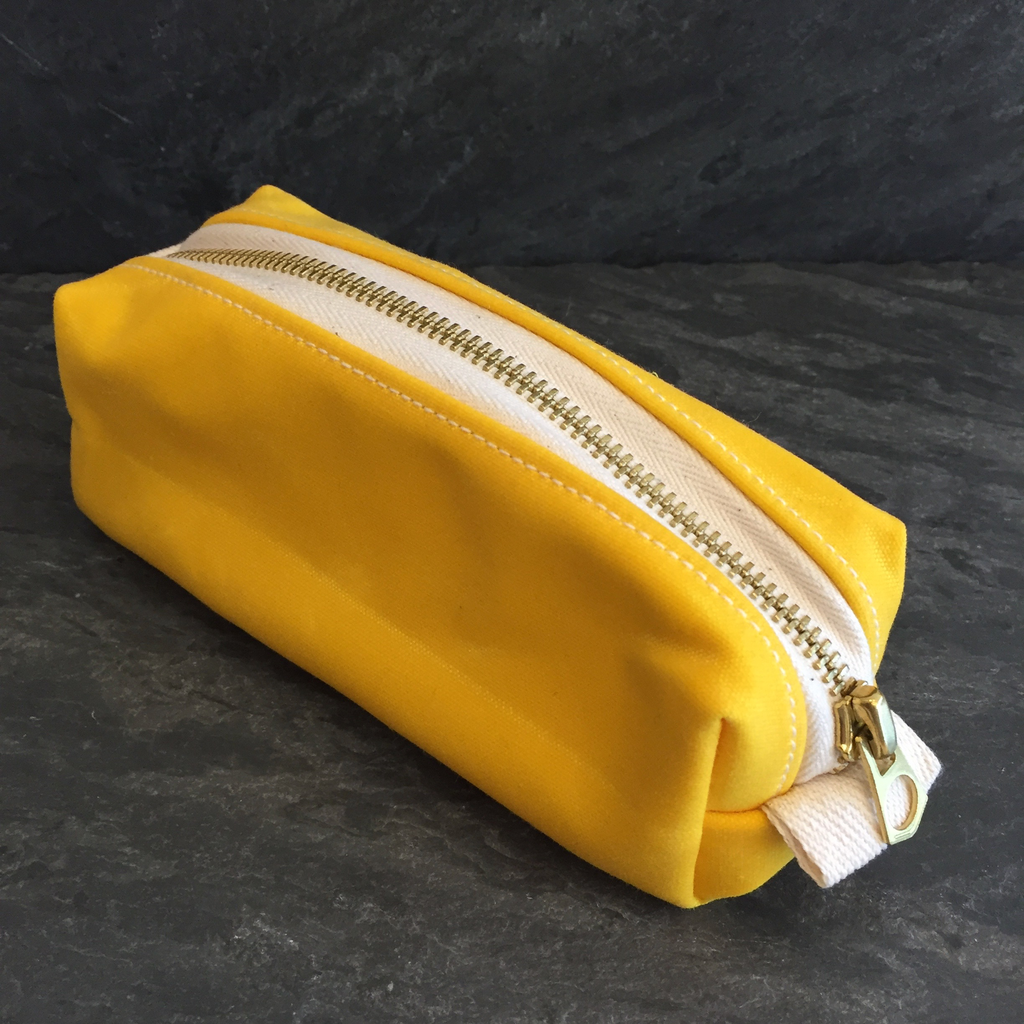 Waxed Nugget Pouch - Yellow