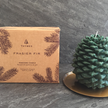 Thymes Frasier Fir Molded Pinecone Candle