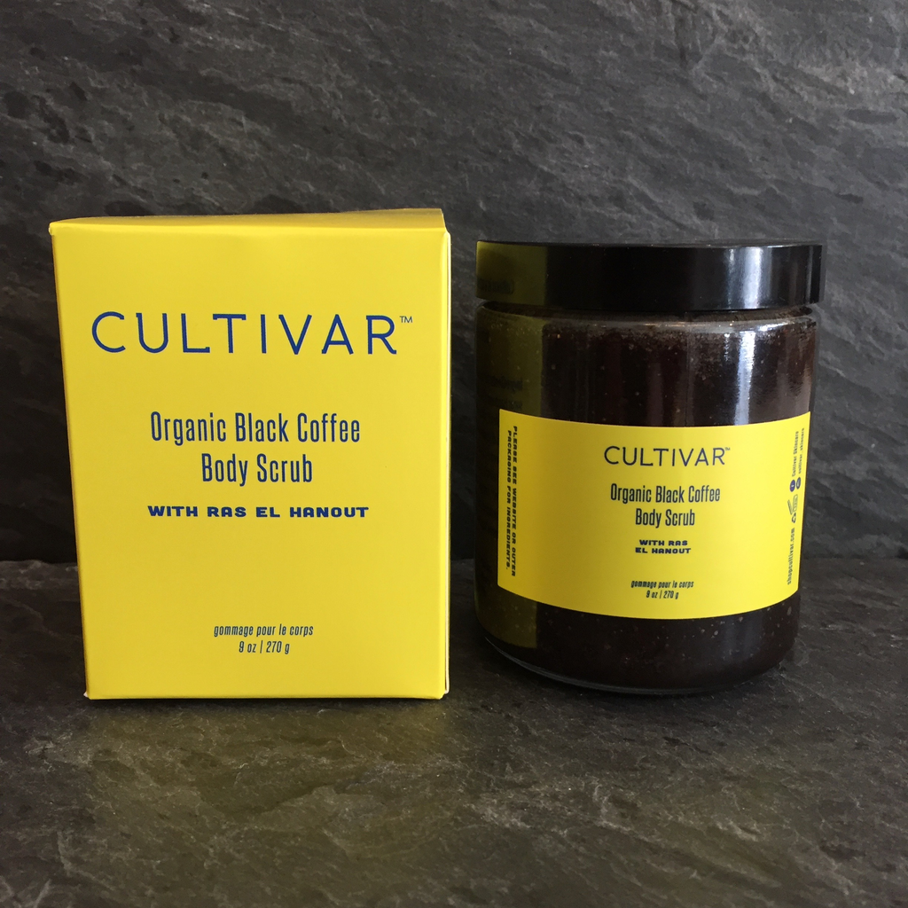 Cultivar Black Coffee with Ras el Hanout Organic Body Scrub 9oz