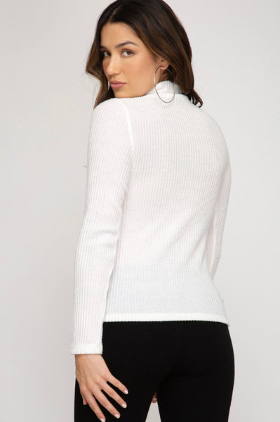It's A Must Ribbed Turtleneck