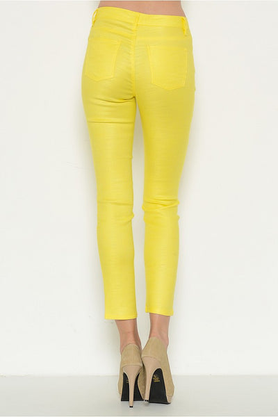 Yellow Stella Linen Pants