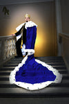 Original Series King's coronation Robe with a Train (Blue)