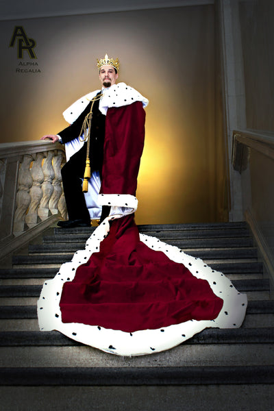 Original Series King's coronation Robe with a Train (Burgundy)