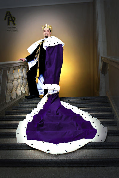 Original Series King's coronation Robe with a Train (Purple)