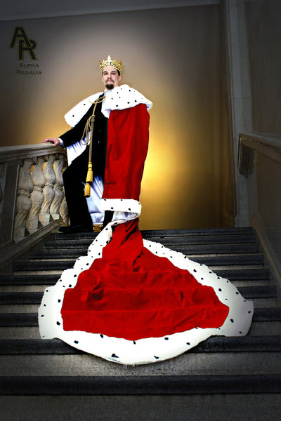 Original Series King's coronation Robe with a Train (Red)