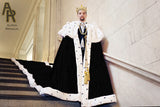 Sovereign Series King's Coronation Robe With a Train (Black)