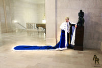 Sovereign Series King's Coronation Robe With a Train (Blue)
