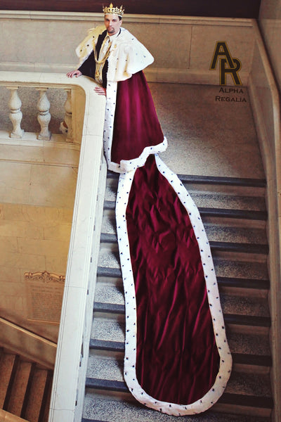 Sovereign Series King's Coronation Robe With a Train (Burgundy)