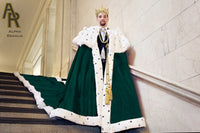 Sovereign Series King's Coronation Robe With a Train (Green)