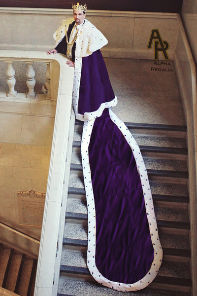 Sovereign Series King's Coronation Robe With a Train (Purple)