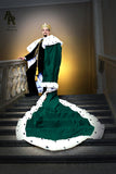 Original Series King's coronation Robe with a Train (Green)