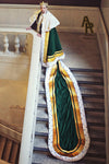 Sovereign Series King's Coronation Robe With Gold Trim and a Train (Green)
