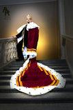 Original Series King's coronation Robe with Gold Trim and a Train (Burgundy)