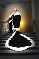 Original Series King's coronation Robe with a Train (Black)