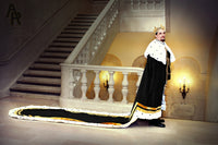 Original Series King's coronation Robe with Gold Trim and a Train (Black)