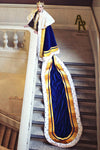 Sovereign Series King's Coronation Robe With Gold Trim and a Train (Blue)