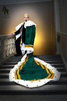 Original Series King's coronation Robe with Gold Trim and a Train (Green)