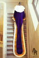 Sovereign Series King's Coronation Robe With Gold Trim and a Train (Purple)
