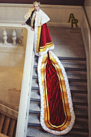 Sovereign Series King's Coronation Robe With Gold Trim and a Train (Red)
