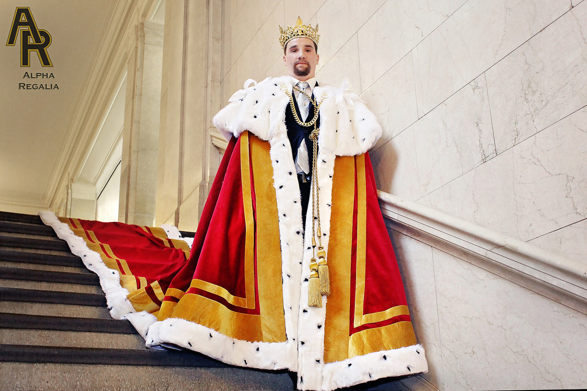 Sovereign Trainred King's And Series Coronation With Gold Trim A Robe gfyvb7Y6