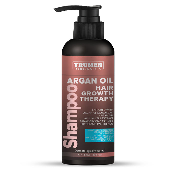 TruMen Biotin Shampoo With Biotin, Argan Oil, Allium Cepa Extract, and Panax Ginseng Extract