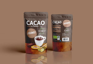 Cacao + Panela soluble 500 gramos. Doypack.
