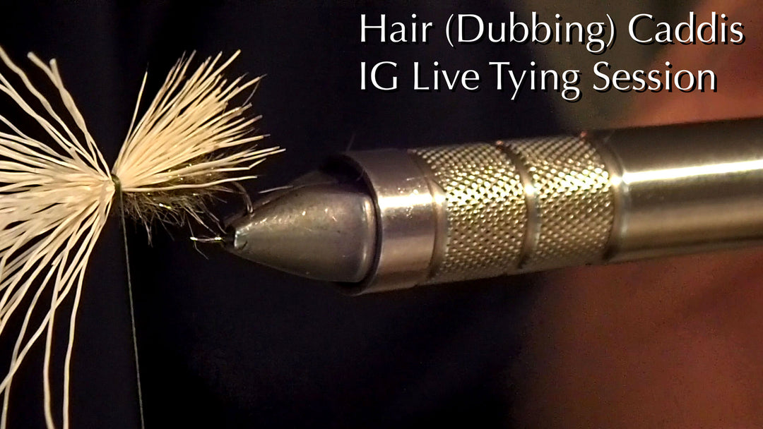 Video: IG Live Fly Tying Sessions - Hair (Dubbing) Caddis