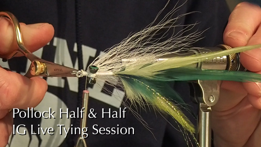 Video: IG Live Fly Tying Sessions - Half & Half Pollock (Clouser)