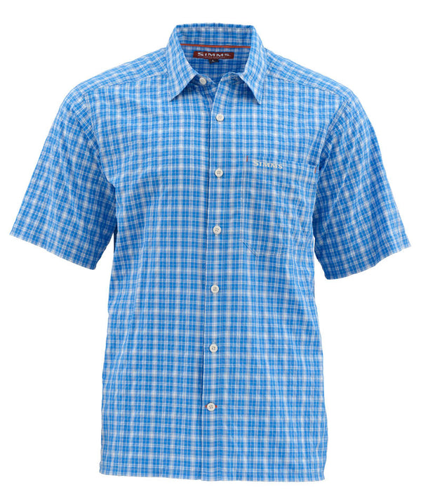 Simms Morada SS Shirt - Harbor Blue Plaid