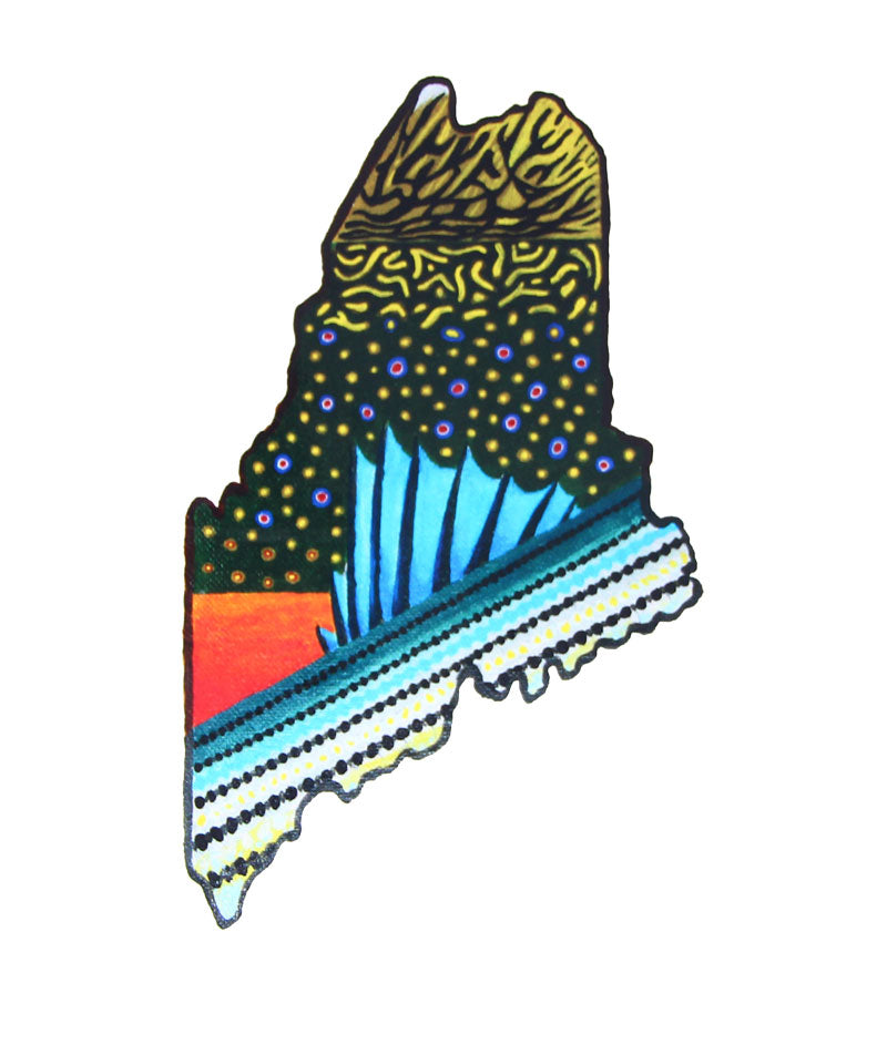 Maine Brook Trout + Striped Bass Sticker
